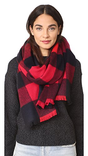 Kate Spade New York Women's Mega Check Scarf, Charm Red, One Size by Kate Spade New York