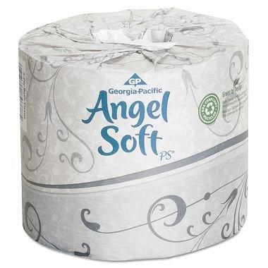 Product of Angel Soft PS - Premium Bathroom Tissue - 40 Rolls - Toilet Paper [Bulk - Ps Angel Bath Soft