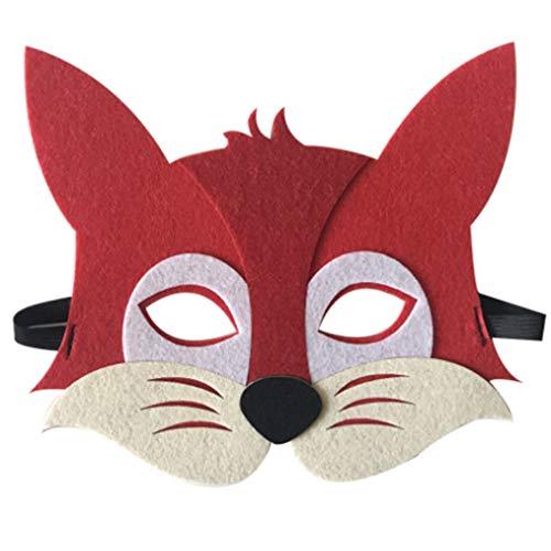 Cartoon Animals Half Face Kids Mask Children's Day