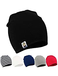 Kids Beanie Hat Soft Adjustable Cool Boy Cute Girl Cotton Toddler Knit Hat Cap