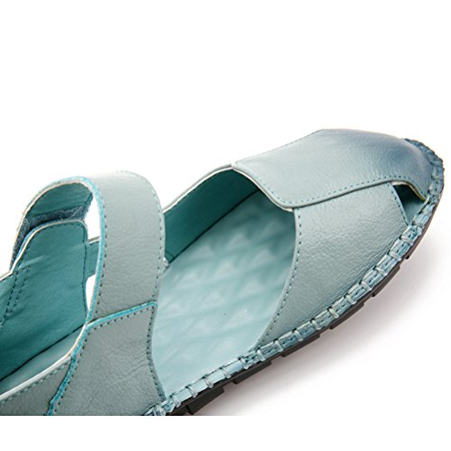 MatchLife Damen Mary Jane Halbschuhe Casual Ballerinas Schuhe Hellblau