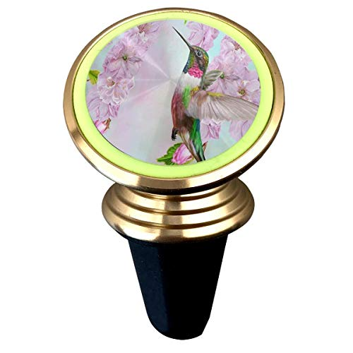 Magnetic Car Holder Rotation Universal Small Bird Hummingbird Cherry Blossoms Custom Adjustable 360˚ Rotation Universal Car Mount Cell Phone Stand for Phone X/6/6s/7/8/8 Plus/7