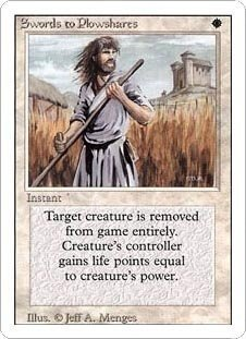Swords to Plowshares (Magic the Gathering : Revised Uncommon)
