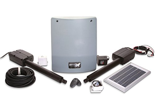 USAutomatic 020335 Medium 300 Solar Charged Automatic Gate Opener Double Gate Basic Kit