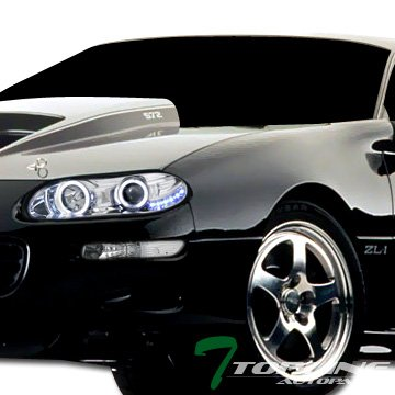 Topline Autopart Chrome Clear Lens Front Signal Parking Bumper Lights Lamps Blinkers K2 For 93-02 Chevy Camaro