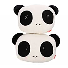 EFORCAR(R) 2PCS Carton Panda Plush Auto Neck Head Rest Car Head Rest Cushion Pillow