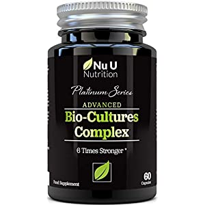 Bio-Cultures 5 Active Strains 60 Billion CFU Source Powder | 6 Times Stronger – 6 Billion Live CFUs | Multi Strain with Lactobacillus Acidophilus & Bifidobacterium for Adults | 60 Vegetarian Capsules