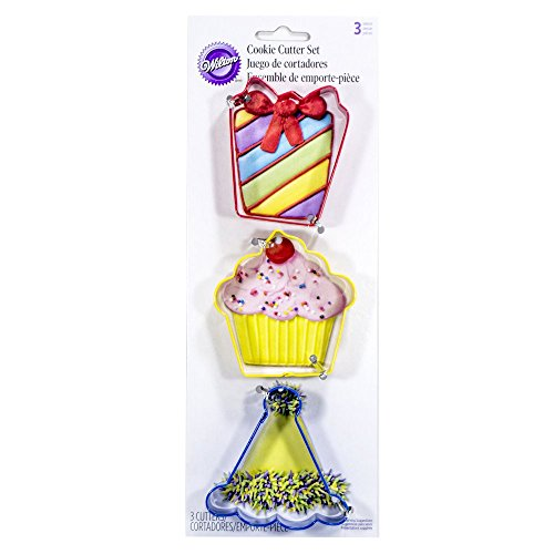 Wilton Cupcake, Present & Party Hat Cookie Cutter Set ()