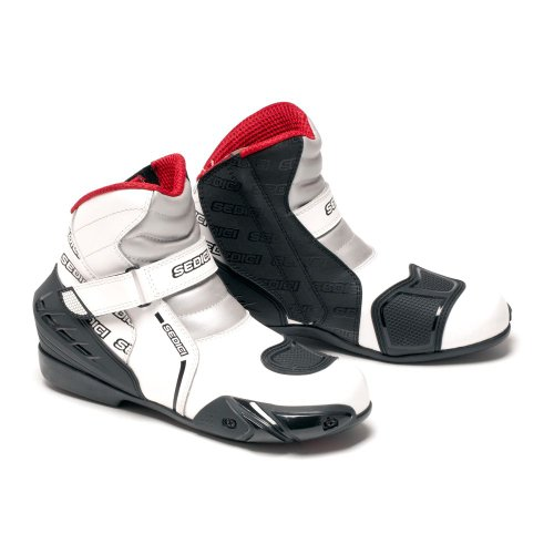SEDICI Rapido Leather Motorcycle Boots - 12, White (Boots Motorcycle Vented)