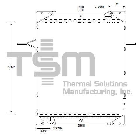 Amazon com: TSMUSA All Metal Radiator for MACK MIDLINER