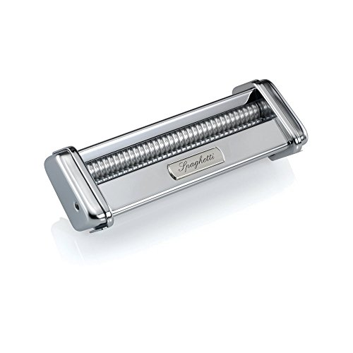 Take Marcato Atlas Spaghetti Pasta Cutter Attachment, Stainless Steel, Works with Atlas Pasta Machine deliver