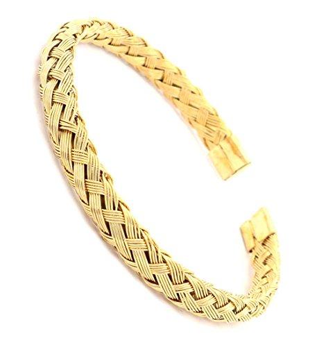 Stainless Gold Faith Bangle - 6