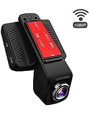 TOGUARD Caméra de Voiture WiFi Caméra Embarquée Full HD 1080P, Objectif Réglable à Grand Angle de 170 Degrés, Dashcam Voiture Enregistreur de Conduite Écran LCD 2.45 Pouces, Enregistrement en Boucle