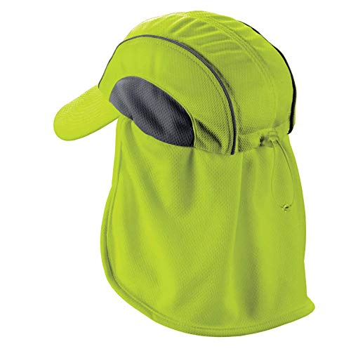 Ergodyne Chill-Its 6650 Absorptive Moisture-Wicking High Visibility Baseball Hat with Neck Shade, - Its Moisture