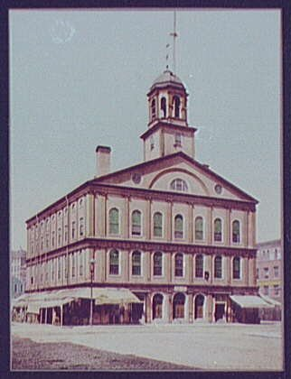 Photo: Faneuil Hall,Boston,markets,auditorium,Massachusetts,Detroit Publishing - Stores Hall In Faneuil