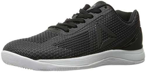 Reebok Women's Crossfit Nano 7.0 Cross-Trainer Shoe, Black/Lead/White, 5 M US