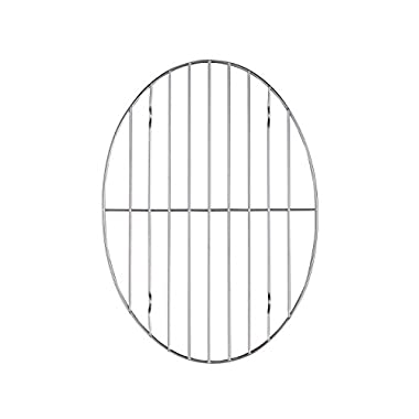 HIC Oval Wire Roasting Baking Broiling Rack, 12-Inches x 8.5-Inches