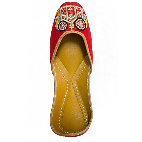 Coral Haze Jutti Sandals traditionnels buggy Chaussures Party Red Women Wear Belle EU-39