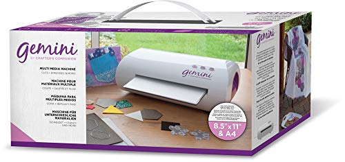 Gemini by Crafter's Companion CCM GEM-M-USA Twin-Function Die Cutter & Embosser, White