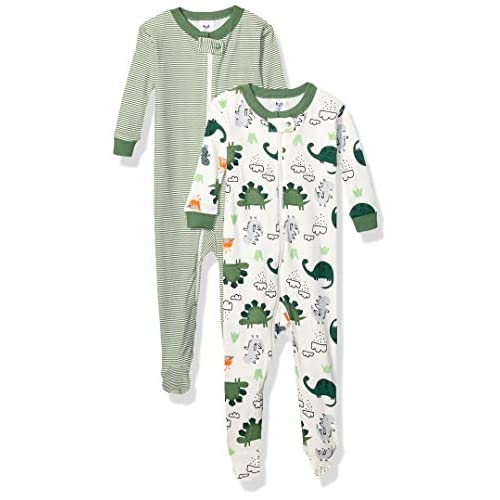 Gerber Baby Boys 2-Pack Footed Unionsuit Under The Sea 9 Months
