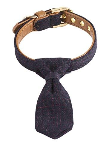 Gyapet Collar para Perros pequeños, Adorable, Corbata de Cuello Ajustable, para Cachorro, Gato, Gatito, Piel, Color Rojo,...