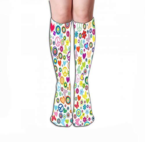 YILINGER Women Girls Novelty Funny Crew Socks 19.7