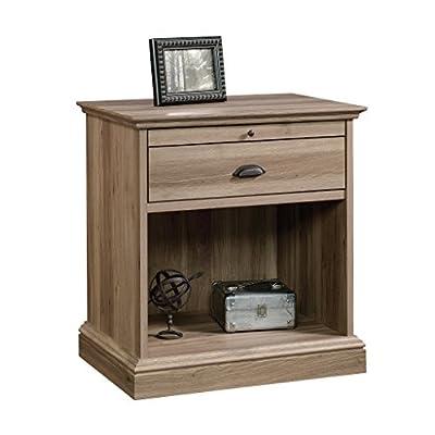 Sauder Barrister Lane Nightstand - Dimensions: 26W x 19.5D x 28H in. Wood and engineered wood construction Salt Oak finish - bedroom-furniture, nightstands, bedroom - 41NyLjExbgL. SS400  -