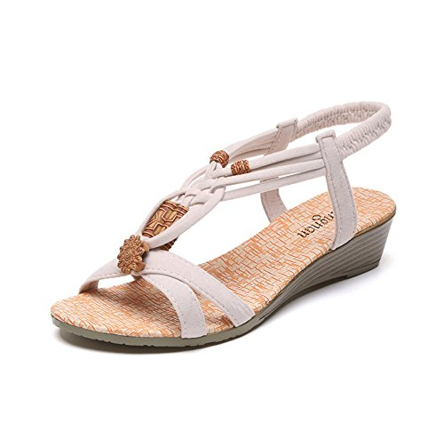 Donyyyy Cómodos zapatos de mujer, calzado de playa casual, cordones de fondo plano, cómodos zapatos de mujer. Thirty-seven