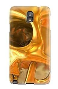 SKoIVQu2380KqiMk JessicaBMcrae Head Skull Gold Abstract Durable Galaxy Note 3 Tpu Flexible Soft Case