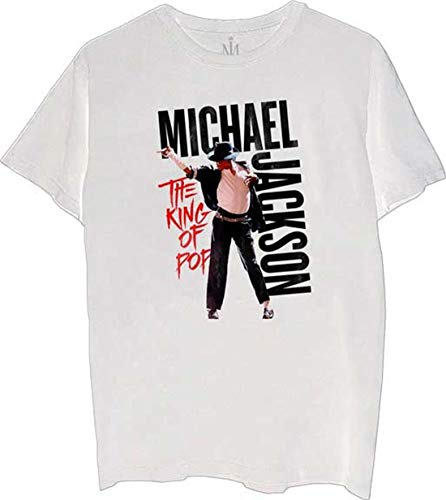 Michael Jackson King of Pop T-Shirt New White