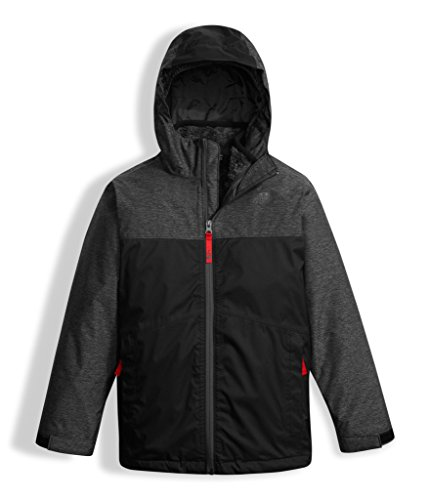 The North Face Boys Chimborazo Triclimate Jacket - TNF Black Heather - XXS by The North Face