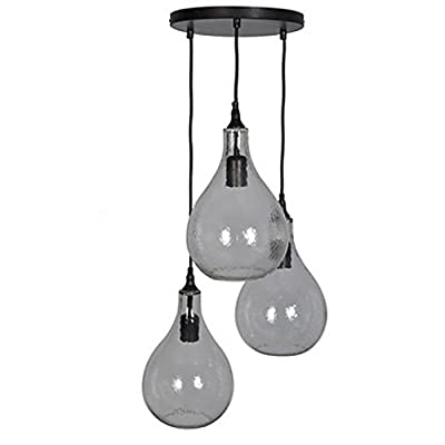 Threshold Artisian 3 Tear Drop Ball Glass Pendant Chandelier Ceiling Lamp