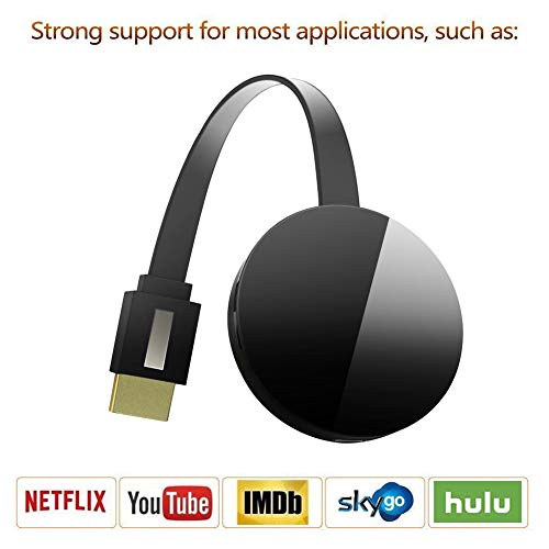 (Wireless Display Dongle, WiFi Portable Display Adapter TV Projector, HDMI 1080P Digital TV Receiver, Support Airplay DLNA Miracast, Compatible with iOS/Android Smartphones/Windows/Mac/Laptop)