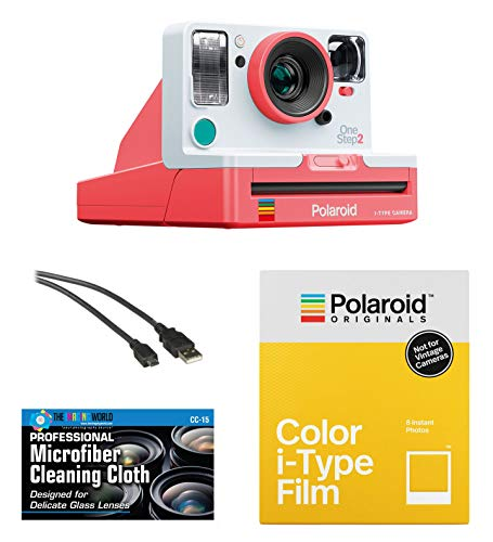 Polaroid Originals OneStep2 VF Instant Film Camera (Coral) + Pack of Film + Microfiber Cloth