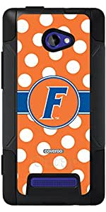 Coveroo Commuter Series Case for HTC Windows Phone 8X - Retail Packaging - University of Florida Polka Dots