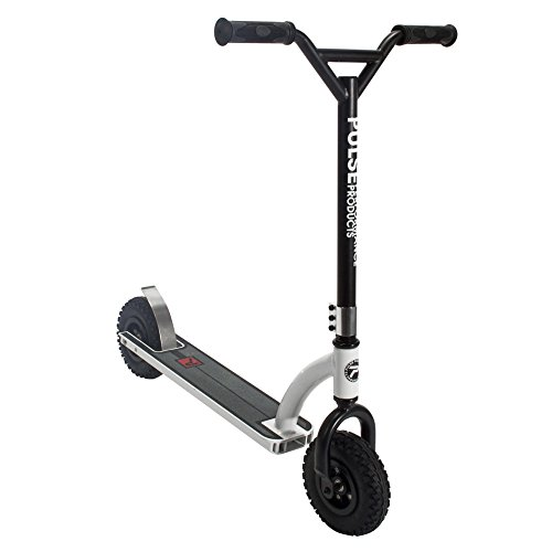 - Pulse Performance Products DX1 Freestyle Dirt Scooter, Black/White
