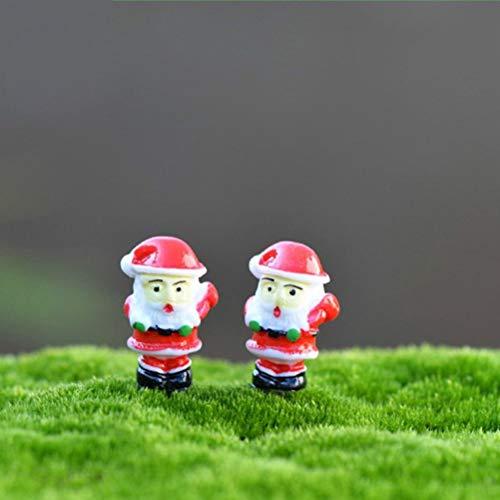 3Pcs Christmas Decoration Santa Claus Miniature Figurine Fairy Garden Ornament Building Statue Love Gift Resin Craft Toy Navidad