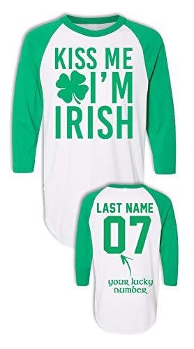 (Kiss Me Im Irish Shirt - St Patricks Day Long Sleeve T Shirts - Drinking Team Shirt)