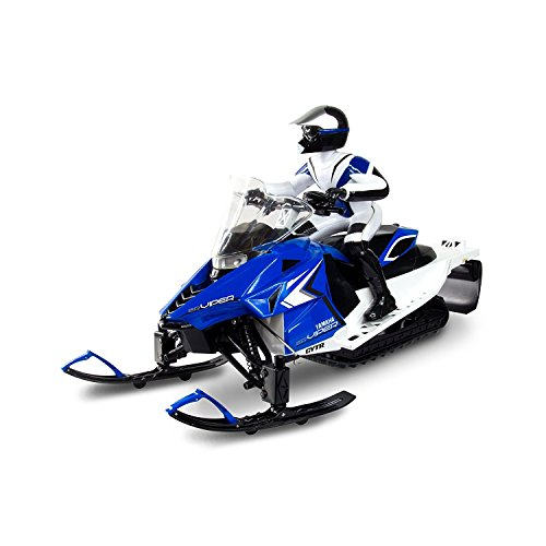 Blue KidzTech 1:6 R/C Yamaha Snowmobile (Kidztech 1 6 Remote Control Yamaha Snowmobile)