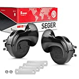 SEGER Trumpet Car Horn Set - High Low Tone - 12 Volt - Universal Fit - 60B Series 12V Loud Horn with Brackets