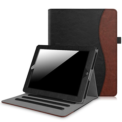 Fintie iPad 2/3/4 Case [Corner Protection] - [Multi-Angle Viewing] Folio Smart Stand Cover with Pocket, Auto Sleep/Wake for Apple iPad 2, iPad 3 & iPad 4th Gen with Retina Display, Dual Color