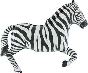 Zebra Mylar Balloon - 1