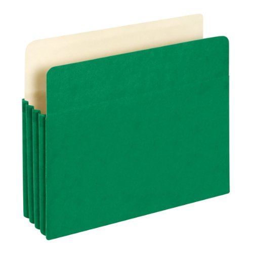 Globe-Weis File Pocket, 3-1/2 Inch Expansion, Letter Size, Green, (1524E GRE) - Globe Weis Grid