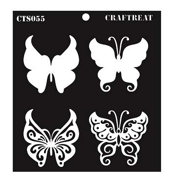 CrafTreat Layered Stencil Butterflies 6X6 CTS055