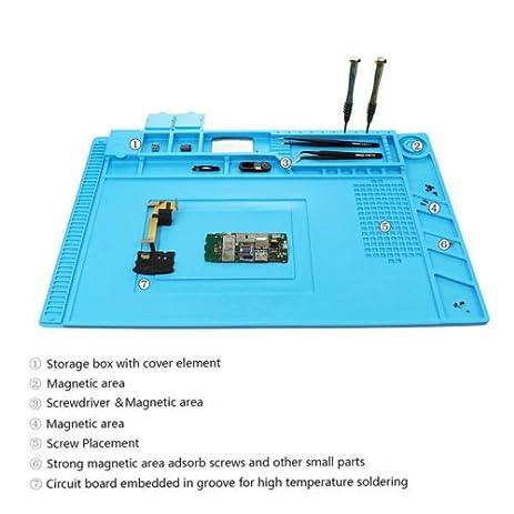 45x30cm magnetic heat insulation silicone pad desk mat for bga rh amazon com