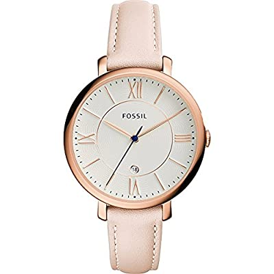 Fossil Jacqueline Date Leather Watch