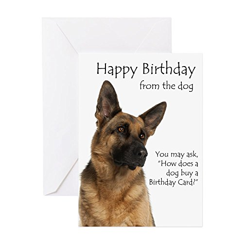 CafePress From The German Shepherd Birthday Card Greeting Card, Note Card, Birthday Card, Blank Inside Matte ()