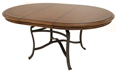 Impacterra QLBV5351872317 Bremerhaven Oval Extendable Dining Table, Bronze/Tudor (Oval Extendable Table)
