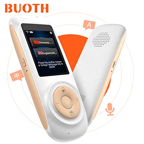 - Smart Language Translator Device with WiFi or Hotspot 2.4 Inch Touch Screen Support 70 Languages Two Way Voice Translation for Travelling Learning Business Shopping(White)