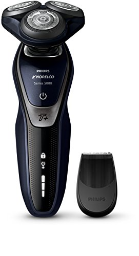 Philips Norelco Electric Shaver 5550, Wet & Dry, S5590/81, with Turbo+ mode and Precision Trimmer